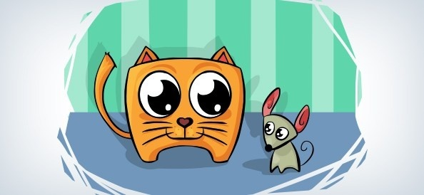 vector cat and mouse