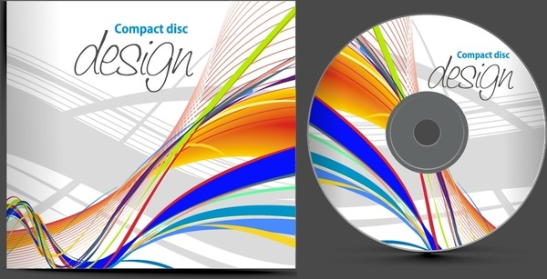 cd background template colorful abstract dynamic lines decor