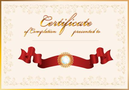 vector certificate template design art