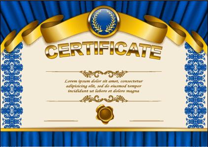 vector certificate template exquisite vector