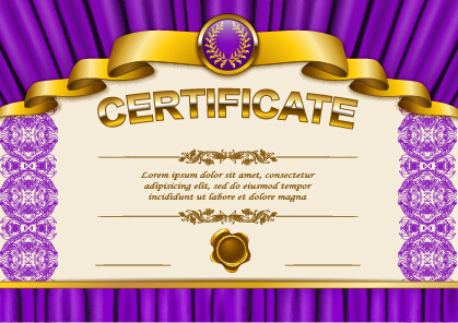 vector certificate template exquisite vector