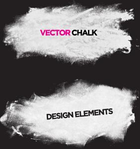 vector chalk banner