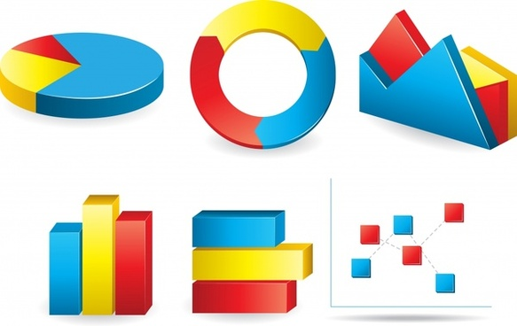 chart design elements colorful 3d design