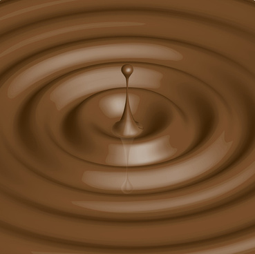vector chocolate drops background