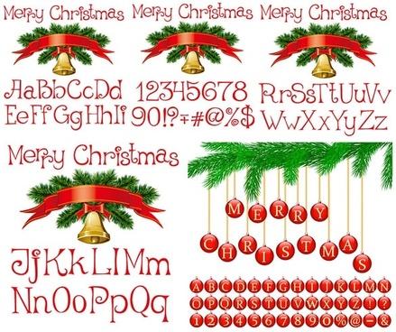 vector christmas alphanumeric