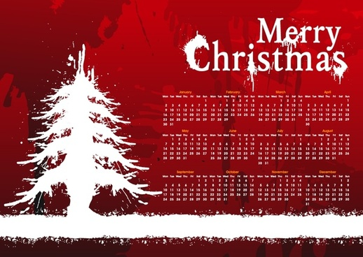 vector christmas background calendar