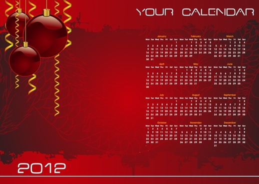 vector christmas background calendar calendar