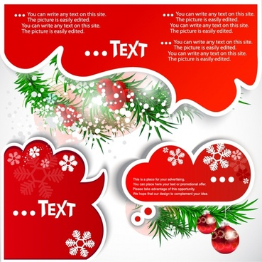 vector christmas card notes