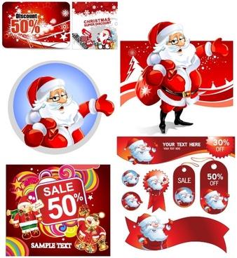 vector christmas discount sales calendar
