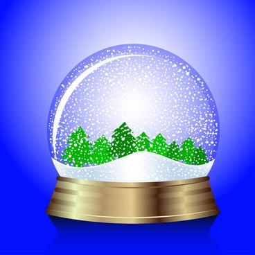 vector christmas snowglobe