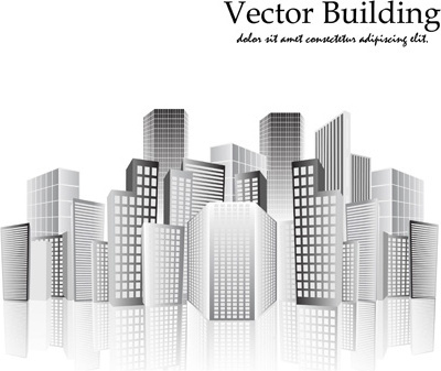 vector city buildings design elements