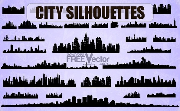 Vector City Silhouettes