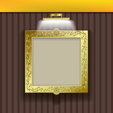 picture frame template elegant luxury golden decor