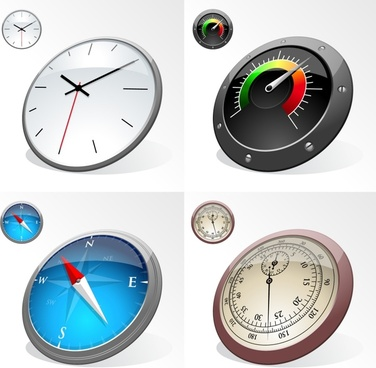 speedometer icons shiny modern 3d sketch