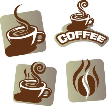 vector coffee break stickers elements