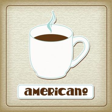 coffee menu template cup sketch paper cut design