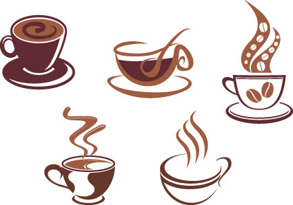 vector coffee icons design elements