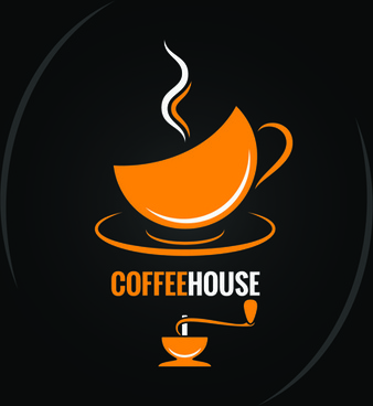vector coffee menu logo design