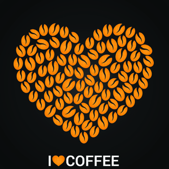 vector coffee menu logo design
