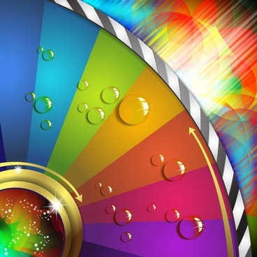 decorative background template modern colorful cirrcle segments droplets