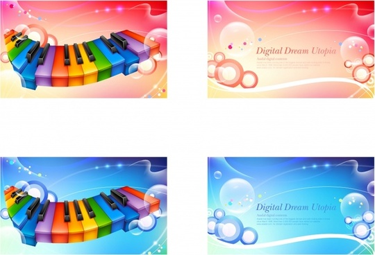 decorative backdrop sets music bubble themes colorful decor