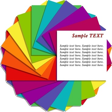 colored paper background circle layout modern design