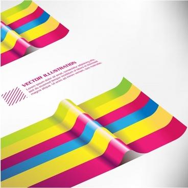 vector colored paper color bar