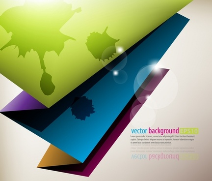 decorative background modern colorful shiny paper fold 3d