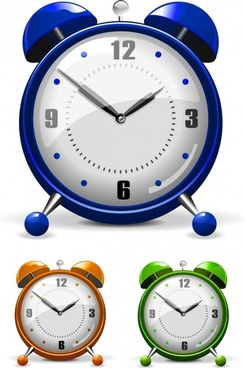 vector colorful alarm clock