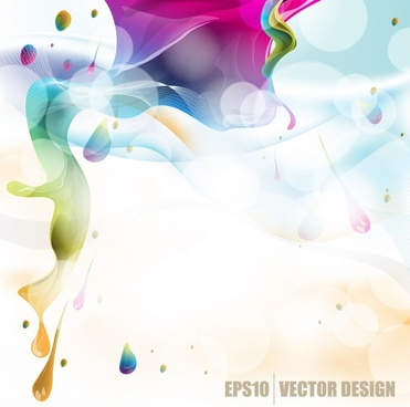 vector colorful background flowing pigment