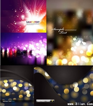 abstract background templates modern bokeh lights decor