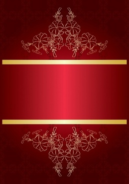 vector colorful background ornate red tide