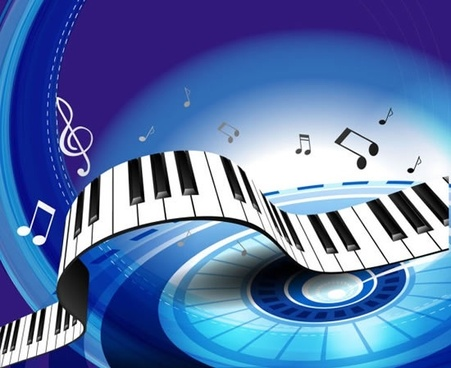 vector colorful background piano keys
