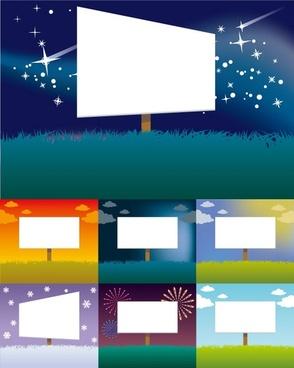vector colorful billboards