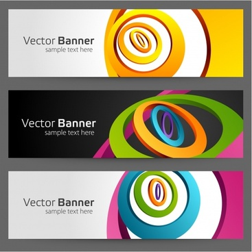decorative banner templates 3d dynamic twisted curves