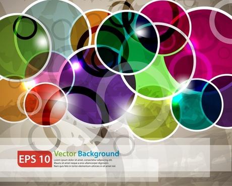 technology background modern shiny colorful flat circles decor