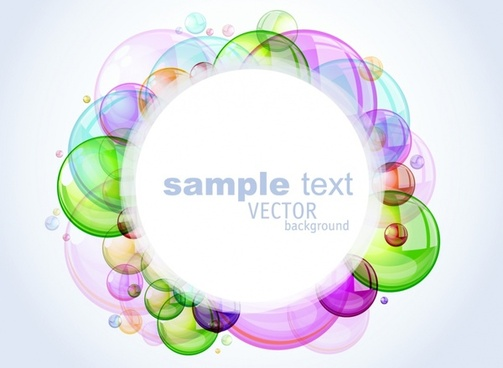 vector colorful bubbles background glow