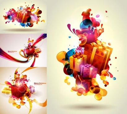 vector colorful christmas gift