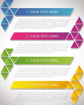 document decorative templates colored modern flat geometric shapes