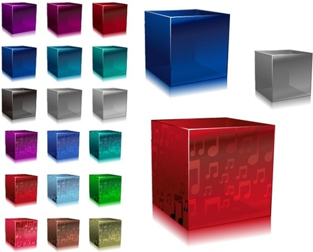 vector colorful cube
