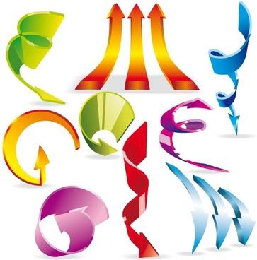 vector colorful dynamic arrow