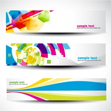 web banner templates modern colorful dynamic decor