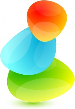 decorative background modern bright design colorful rounded gems