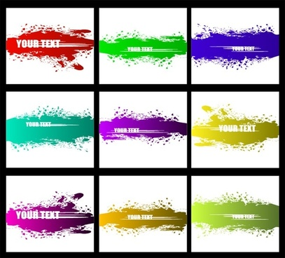 vector colorful ink strokes