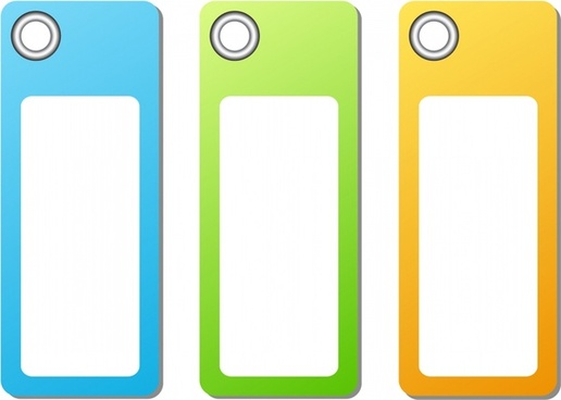 vector colorful labels tag