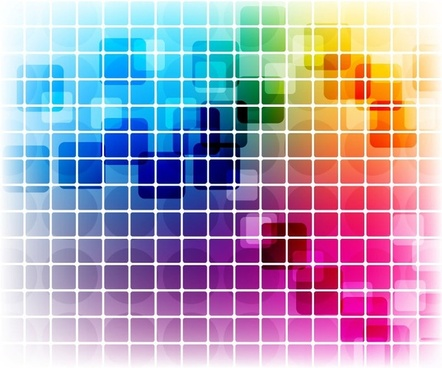 Vector Colorful Mosaic Pattern Design