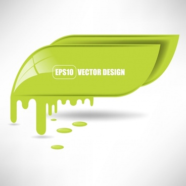 vector colorful paint flowing