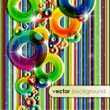 decorative background colorful sparkling rings stripes decor