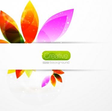flower background modern design colorful flat sketch