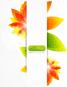 petals background sparkling colorful modern flat sketch